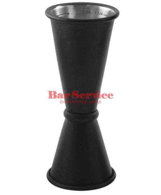 Джиггер барный 15-30-45 мл, нерж сталь с покрытием чёрный The Bars в Барнауле