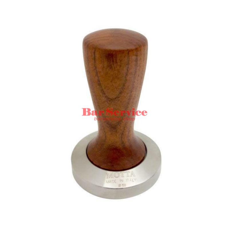 Темпер Мотта SLIM 58 мм. (плоский) рукоятка из дерева в Барнауле